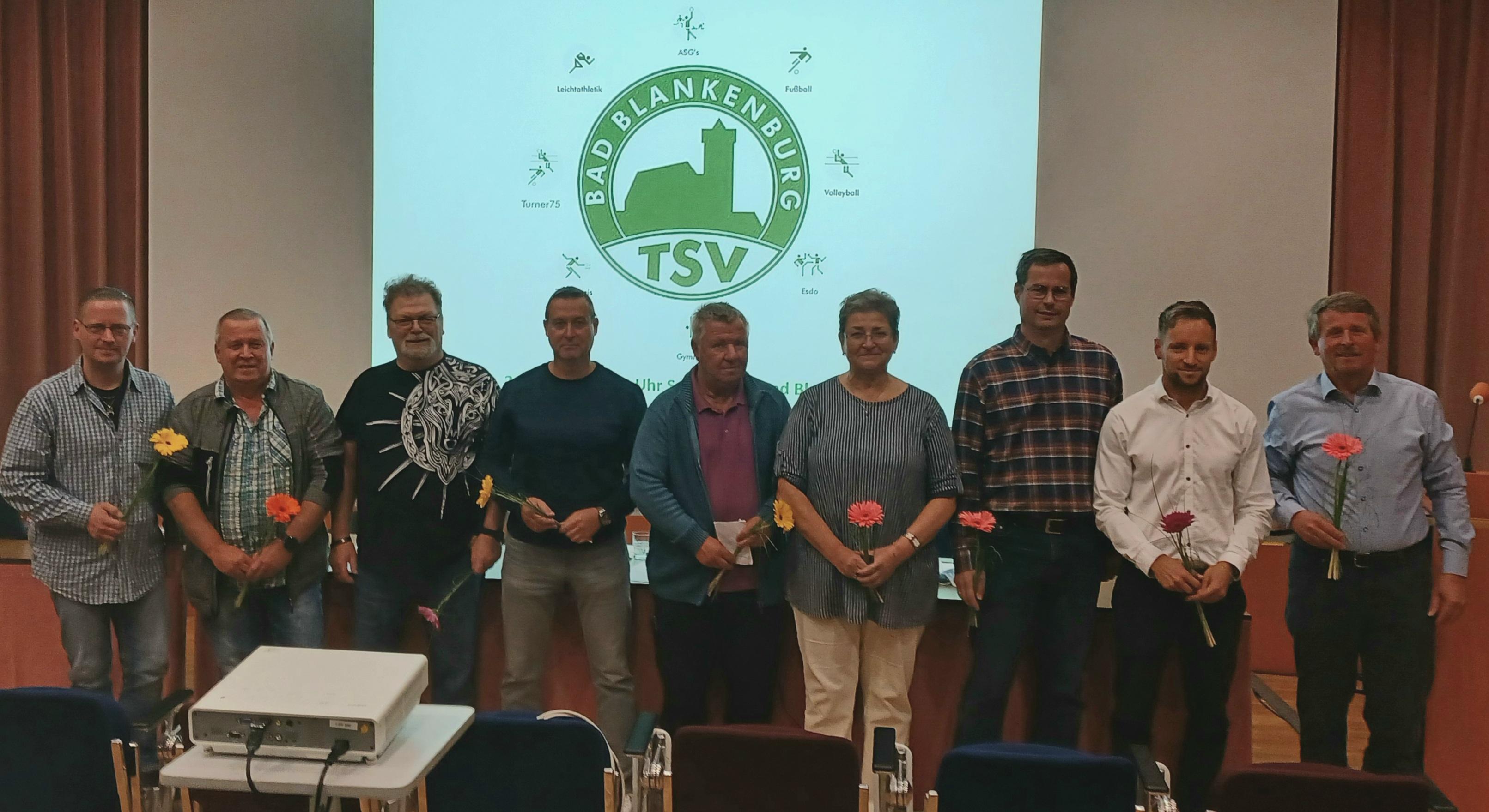 TSV-Vorstand (Bild:TSV Bad Blankenburg)